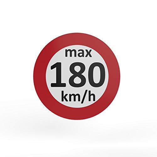AUPROTEC - Pegatinas de velocidad para neumáticos de invierno (160-240 km/h, 25 unidades, 180 km/h)