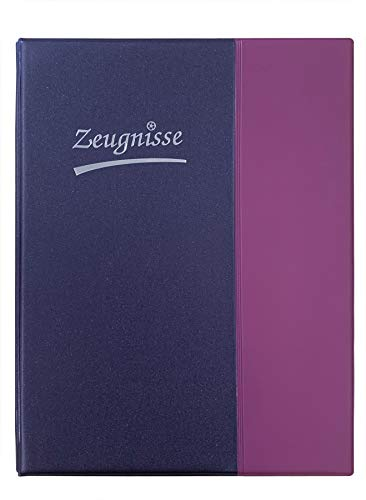Idena 20104 - Zeugnisringbuch DIN A4, 10 Hüllen, violett, 1 Stück