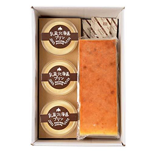 乳蔵北海道プリンとベイクドチーズケーキ セット〔プリン×3・チーズケーキ×1〕