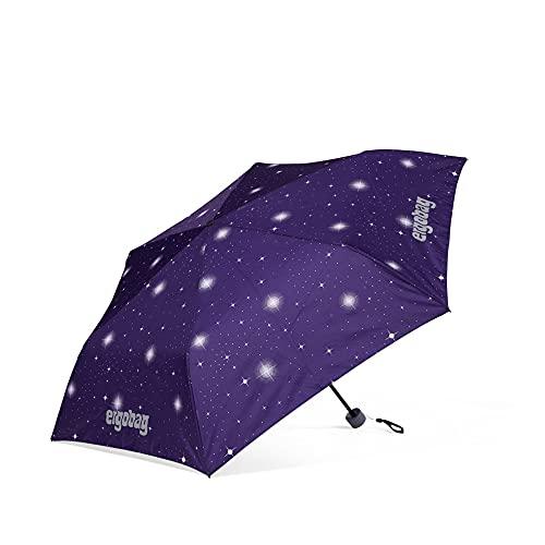 ergobag Regenschirm - Schultaschenschirm für Kinder, extra leicht mit Tasche, Ø90cm - Bärgasus - Lila