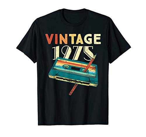 45 Years Old Gifts Vintage 1975 Music Cassette 45th Birthday T-Shirt