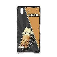 すまほケース ハードケース ドコモ格安スマホ MONO MO-01J 用 BEER ビール・ブラック ビンテージ アメリカン レトロ USA ZTE モノ ゼットティーイー モノ docomo スマホカバー けいたいケース 携帯カバー beer_00x_h191@01