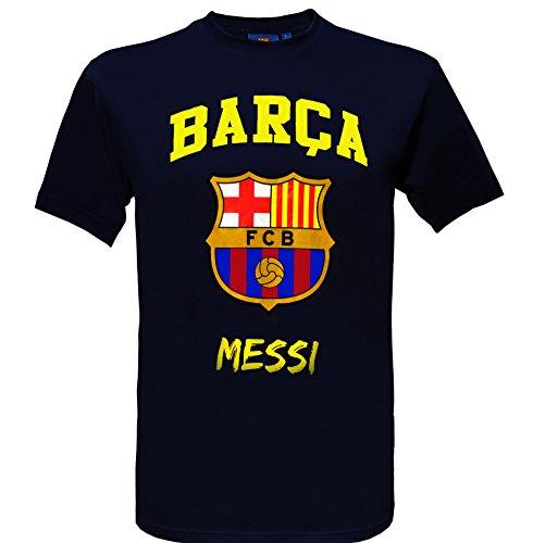 Herren T-Shirt Lionel Messi Nr. 10, Barça, offizielle FC Barcelona-Kollektion, Größe Erwachsene - L