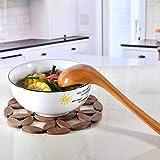 MMMN Cuchara de Sopa Olla de Madera de Avena de Mango Largo Grande Papilla de Olla Antiadherente de Sopa de Madera de Cocina casera de madera-JC915 Pala de arroz pequeña sin Pintura
