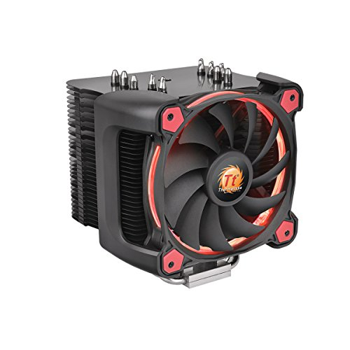 Thermaltake CL-P021-CA12RE-A Riing Silent 12 Pro - Ventilador CPU para PC, color rojo
