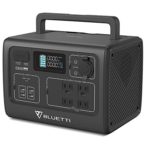 BLUETTI(ブルーティ)EB55ポータブル電源大容量 537Wh/168000mAh AC(700W 瞬間最大1400W)/USB/DC/シガーソケ...