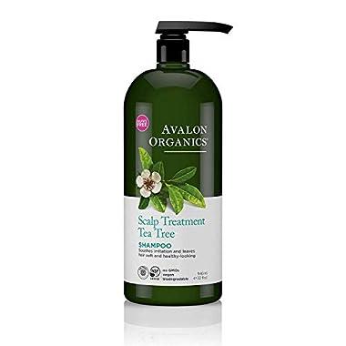 Avalon Organics Scalp Treatment Shampoo, Tea Tree, 32 Fl Oz