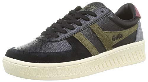 Gola Herren Grandslam Trident Sneaker, Black/Khaki/Burgundy, 42 EU