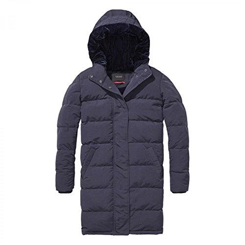 Scotch & Soda Maison Damen Velvet-Lined Puffer Coat Jacke, Blau (Night 02), Large