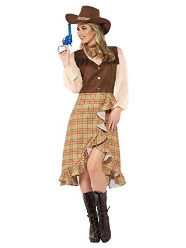 Smiffys Cowgirl Westernkleid Damen Kostüm Karneval Wilder Westen Cowboy
