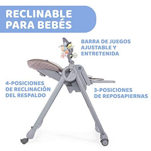 Chicco Polly Magic Relax Trona y hamaca evolutiva con barra de juegos, plegable y compacta, con 4 ruedas y freno, de 0 a 3 años, color marrón beige (Cocoa)