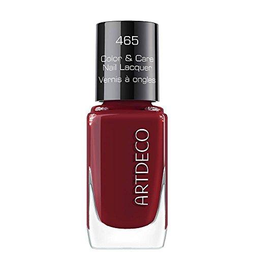 Artdeco Color & Care Nail Lacquer Nagellack 465, Beloved Burgundy, 10ml