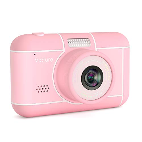 Victure Kids Camera 18MP 1080p FHD Video Digital Selfie Rechargeable Shockproof Camcorder 3x Digital Zoom for Children Christmas Birthday New Year gifts Toys for 3-12 Years Old Boys Girls with SD Card