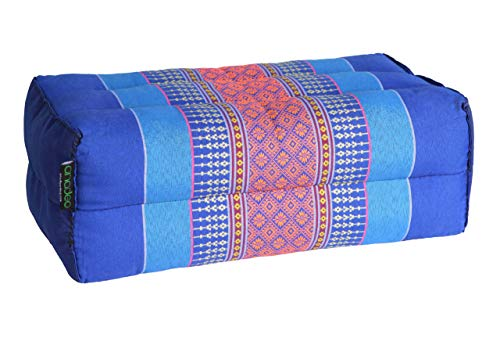 ANADEO YogaProducts Standard - Yogakissen und Meditation Standard Zafu, Kapok mit hoher Dichte, 100 % natürlich, Komfort und Festigkeit, Stabilität des Sitzes, Orange, X1