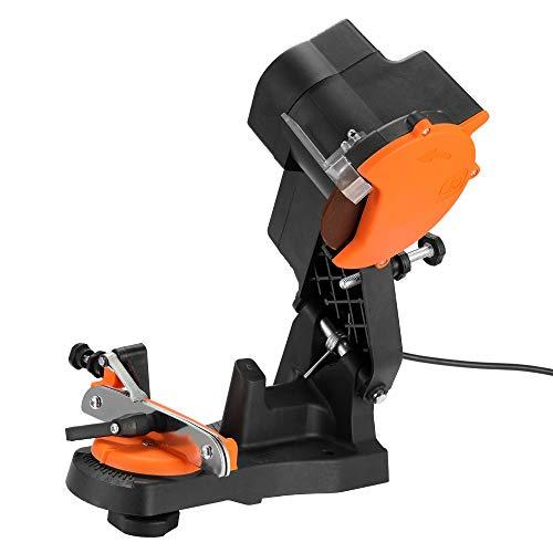 KOUPA Banco de Trabajo de Amoladora de afilador de Motosierra, máquina de rectificado sin oscilación de 4800 RPM 85 W, un ángulo de rectificado de 35 ° de Izquierda a Derecha,