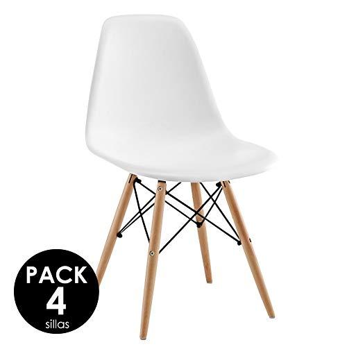 Sillatea Pack 4 sillas Tow Wood - Blanca