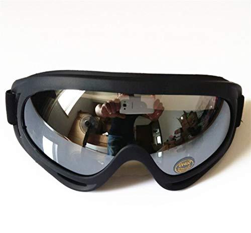 QTWL Skibrille X400 Außenreitbrille Schutzbrille Motorradbrille Auswirkungen (Color : Silver-Plated Lenses)