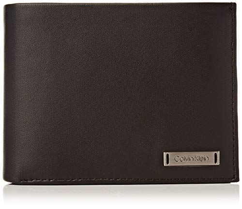 Calvin Klein - Smooth W Plaque 10 CC Coin Pass, Monederos Hombre, Negro (Black), 0.1x0.1x0.1 cm (B x H T)