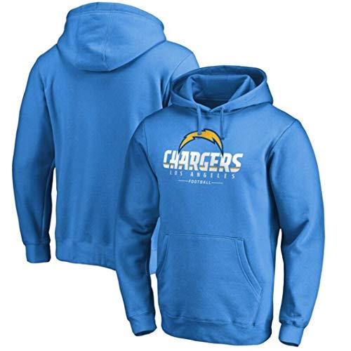 Herren Hoodies - Los Angeles Ladegeräte NFL Fußballfans Langarm Verdickung Casual Jersey Pullover Sweatshirt,2,XXL(180~190CM)