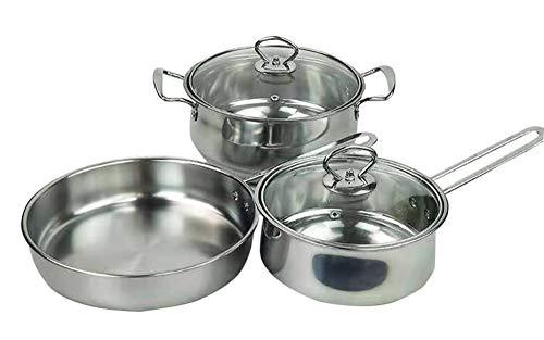 Pot Keuken 3-delige pan, Huishoudelijke 23 cm Hittebestendige Soeppot Gehard Glas Deksel met Ventilatie Gaten A