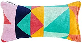 Sunnylife Beach Inflatable Air Pillow with Plush Cover for Sunbathing - Tangalle Rainbow