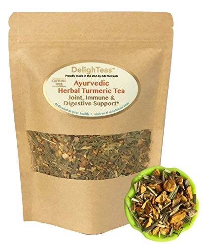 Ayurvedic Anti-Inflammatory tea - Organic loose leaf Turmeric Tea with Ginger, Lemongrass and Licorice (loose tea, 4 oz.)