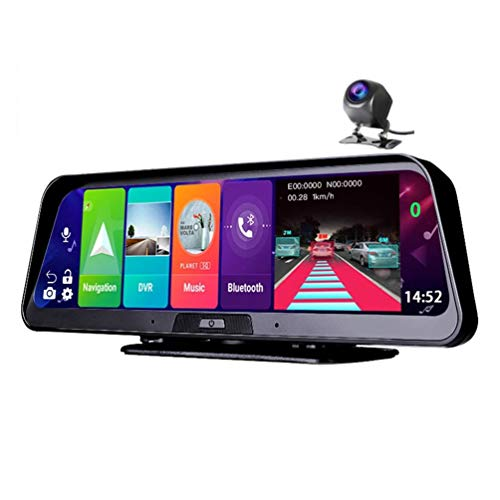 10 Pulgadas Android 8.1 2gb + 32gb Adas 10 En 1 Dashcam Car Dvr Mirror Camera 4g WiFi GPS Bluetooth Full HD 1080p Video Recorder