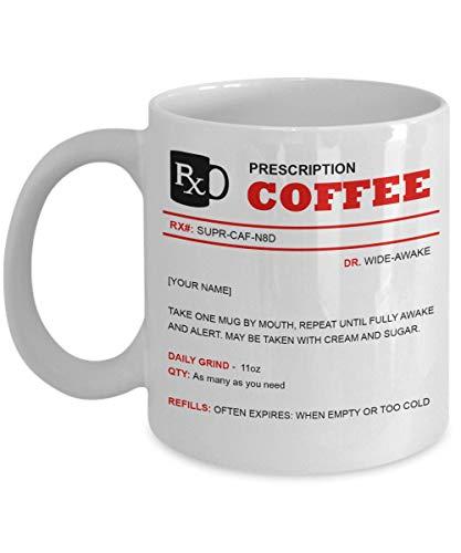 DKISEE gepersonaliseerd abonnement mok op maat koffie Cup toekomstige dokter mok 11oz Kleur: wit
