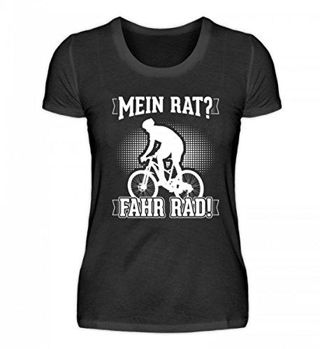 Hoogwaardig damesshirt - Mijn raad? Fiets! Ideaal voor fietsers.