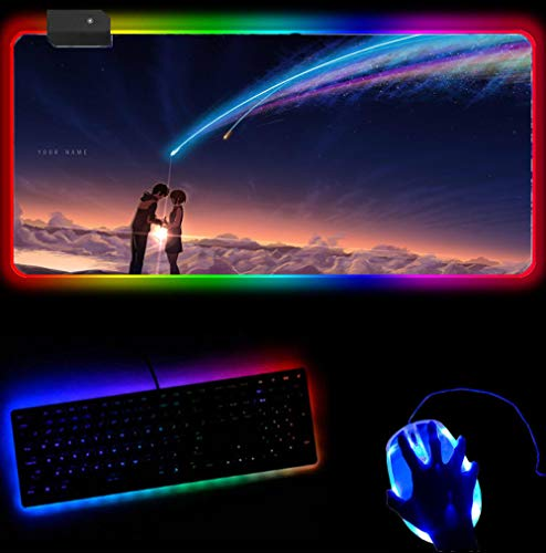 RGB Mouse Pad Your Name Mousepad Gamer Gaming Mouse Pad Nervgear...