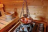Sauna Verdampferschale Kräutertopf Edelstahl für Sauna und Spa Aroma Aufguss - 16cm, Muster: Saunaschale mit Verdampferschale inkl. Zubehör