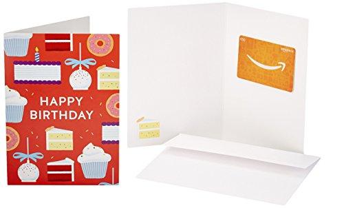 Amazon.de Geschenkkarte in Grußkarte - 50 EUR (Geburtstagskuchen)
