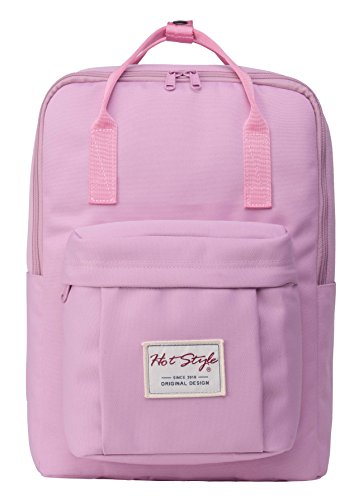 BESTIE Medium Backpack for Women & Teen Girls, Floral Bookbag Cute for School, College and Travel, Pink