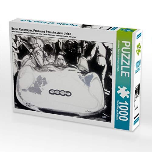 CALVENDO Puzzle Bernd Rosemeyer, Ferdinand Porsche, Auto Union 1000 Teile Lege-Größe 64 x 48 cm Foto-Puzzle Bild von Design, bartsch.