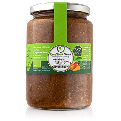 BIO Gemüsebrühe Naturbelassen - kein Pulver. 85% Gemüse. Ohne Hefe, Zucker, Geschmacksverstärker, Glutamat, Öl, etc.(1 x 750g)