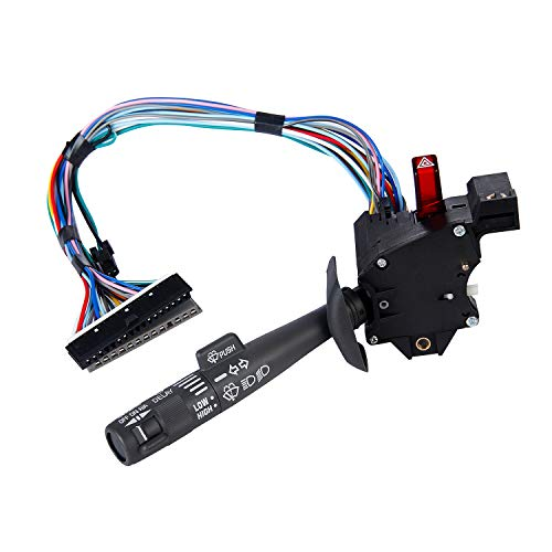 Multi-Function Combination Switch Gray for | Chevy Tahoe, Blazer, Suburban, GMC K1500 & More | Replaces Part # 2330814, 26100985, 26036312 | Turn Signal, Wiper, Washers, Hazard Switch, Cruise Control