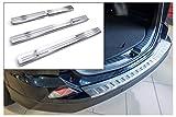 tuning-art L207-EX104 Protección Parachoques y de umbral, Color:Plata