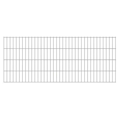 UnfadeMemory Doppelstabmattenzaun Gartenzaun Zaun Mattenzaun Gitterzaun für Abgrenzungen im Garten Terrasse oder Bauernhof, Maschengröße 200 x 50 mm (2008x830 mm, Verzinkt)