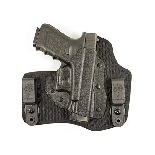 DeSantis Invader Inside The Pant Nylon Holster fits Glock 17,19,26, Right, Black (M65KAB2Z0)