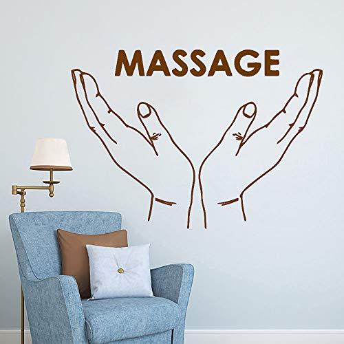 Ajcwhml Entrega a Domicilio Sala de niños Sala de Estar Mural removible Masaje extraíble PVC Adhesivos de Pared marrón 28cm X 39cm