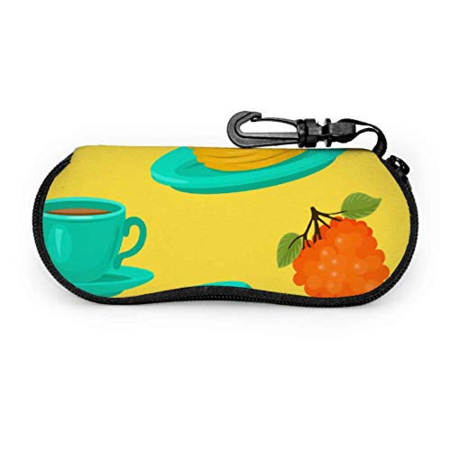 Cute Fashion Creative Cafe Element Case para gafas de sol Mujer Cute...