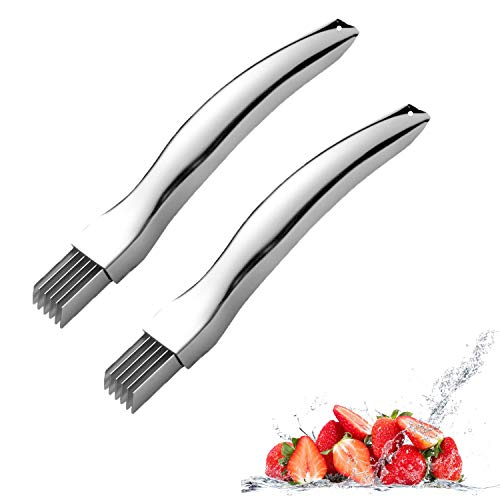 2 Stück Onion Grater, Manual Grating Slices, Stainless Steel Onion Shred Silk the Knife,Spring Onion Cutter, Peeler Chopper Cutter for Vegetables,Chopped Knife