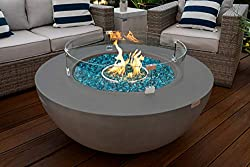 "AJOYA Outdoor Essentials 42"" Modern Concrete Fire Pit Table Bowl"