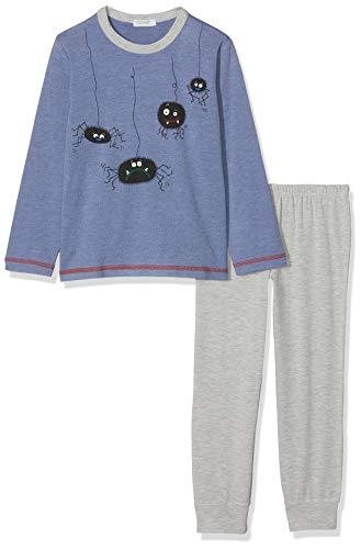 Undercolors of Benetton Jungen Lutk Fashion 2nd Del Zweiteiliger Schlafanzug, Mehrfarbig (Carta Da Zucchero/Grigio Melange 8d8), 160 (Herstellergröße: EL)