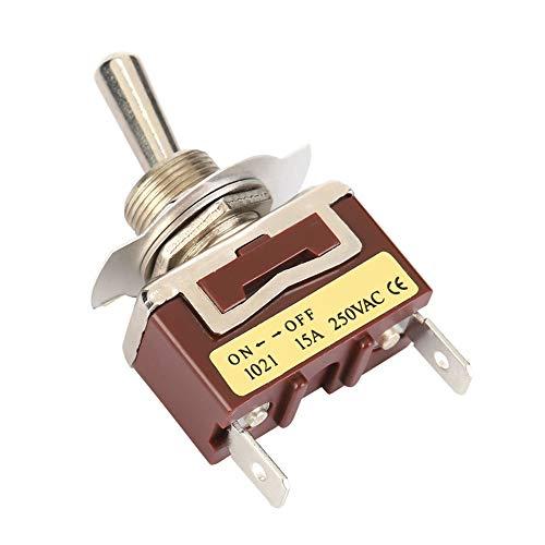 SANON 5 Piezas 6. 3 Pines Rápidos 1021 Mini Interruptor de Palanca 2 Pines 2 Posiciones Encendido- Apagado