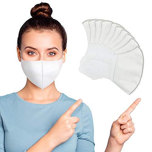 Gesichtsmaske 3 lagig, Einwegmasken mit elastischer Ohrschlaufe, Behelf Mundschutz Maske atmungsaktiv und bequem, Mundbedeckung - 10 Stück