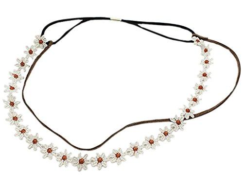BONAMART Damen Mädchen Elegant Hippie Doppelschicht Blumen Stirnband Haarband