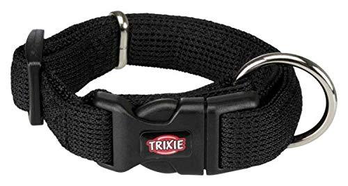 Trixie 16461 Comfort Soft Halsband, M–L: 35–55 cm/30 mm, schwarz