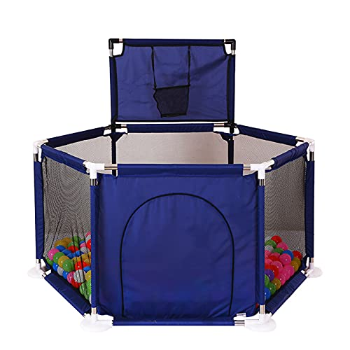 Homestore Plegable Ocean Ball Play Carpa, Juego de Pelota con Aro de Baloncesto Juego para Bebé Tienda de Patio Hexágono Portátil Ball Pool Interior Casa de Juegos al Aire Libre (Bolas No Incluidas)