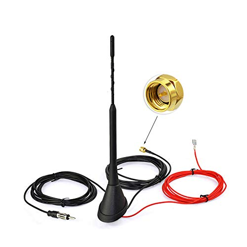 Eightwood Aktive DAB+ Antenne Digital Radio AM/FM Kombi SMA Stecker DIN Male Adapter Auto Radio Antenne Fahrzeug Dachmontage Signal Amplifier 500cm 16.4ft Auto Radio Antenne MEHRWEG